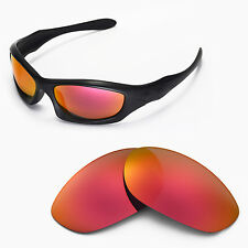 New Walleva Fire Red Replacement Lenses For Oakley Monster Dog Sunglasses