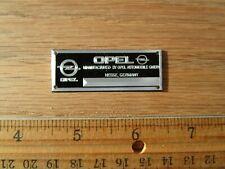 Opel Metal Display Plaque Model Diecast 1/18 1/43 1/24 GT Manta Rekord UT Maisto