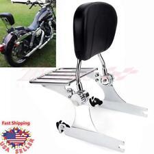 Backrest Sissy Bar For Harley-Davidson Dyna Street Bob Super Glide Low Rider 06+