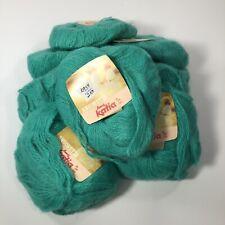 Vtg Katia Angoretta Knitting Yarn Faux Angora Acrylic Turquoise 7114 Bag of 10