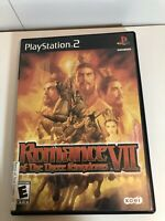 🔥 Romance Of The Three Kingdoms VII 7 Playstation 2 Game PS2 with case