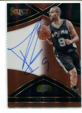 2015-16 Select TONY PARKER Auto Autograph Spurs 39/49