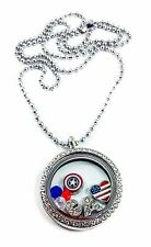 Captain America Civil War Living Memory Locket Necklace Avengers Marvel Comics