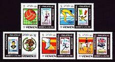 Yemen Kgr 1968 ** Mi.627/31 A Kennedy Fußball Football Marke auf Marke stamp on