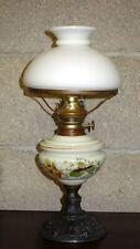 Antik  Zinn-Porzellan-Glas  Petroleumlampe  45cm Hoch