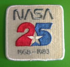 NASA 25TH ANNIVERSARY 1958-1983      PATCH  3 1/2  INCHES