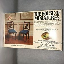 X-ACTO HOUSE OF MINIATURES Wood DollHouse Lyre Back Chair Kit #40044