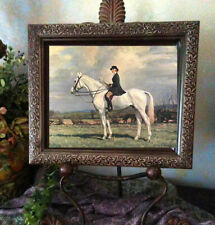 Broadhead Lady Horse Print Antique Styel Framed 11X13