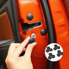 12x Universal Auto Car Interior Door Lock Screw Protector Cover Cap Trim Black~