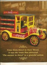 NO TRUCK) Franklin  Brochure/Paperwork Only 1913 Ford Model T Coca Cola Del Trk