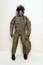 """1/6 ~ 1/5 Scale 12"""" Tall US Air Force / Navy Fighter Pilot Figure"""