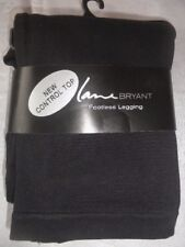 "Lane Bryant Control Top  Footless Leggings Sz A-B NEW 28.95 BLACK ""A MUST HAVE"""