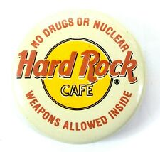 New listing Vintage Hard Rock Cafe Political No Drugs Or Nuclear Weapons Allowed Inside Pin