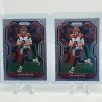 (2) 2020 Panini Prizm Joe Burrow Base Rookie Card -Cincinnati Bengals RC Lot (2)