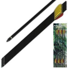 20 inch Crossbow Arrows Aluminum Bolts Field Tips Half Moon Nocks For 120 200 lb