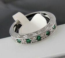 Runde Echte Edelstein-Ringe mit Smaragd für Damen