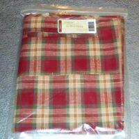 Longaberger Orchard Park Plaid LARGE OVAL WASTE Basket Liner ~ Brand New in Bag!