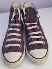 VTG Unisex Chuck Taylor CONVERSE Purple Canvas Hi Top Trainer/Shoe Size 5