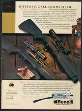 2002 BENELLI  Rifled Slug SBE and M1 Field Shotgun Photo AD Gun Advertising