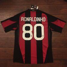 2010/11 AC Milan Home Jersey #80 Ronaldinho XL Adidas Brazil Soccer NEW