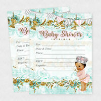 Baby Shower Invitations Girl Cards Invites Princess Decorations Queen Invite 20
