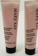 Mary Kay Extra Emollient Night Cream .42oz  Travel Size, 2 tubes