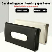 Car Sun Visor Tissue Box Holder PU Leather Auto Paper Napkin Storage Box Cover