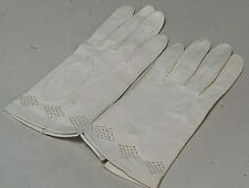 Vintage Ladies New White Leather Short Length Gloves Size 5 (Xs)