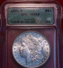 1880-S San Francisco Mint Silver Morgan Dollar ICG MS 63