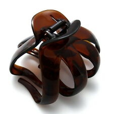 """Brown 3.25"""" Camila Paris AD716 Octopus Thick Hair Updo Tool Claw Jaw Clip France"""