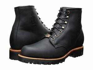 """New in Box Chippewa Mens Black Odessa 6"""" Lace-Up Work Boots Round Toe 11.5 D"""