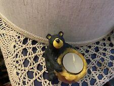 Big Sky Carvers Bear Holding Honey Pot Candle