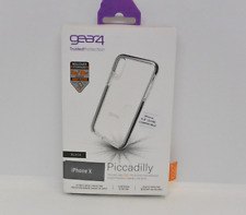 New OEM Gear4 Piccadilly Clear/Black Case For iPhone XS & iPhone X