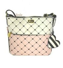 NWT Betsey Johnson Purse Cross back shoulder bag handbag Quilted Diamonds/ Heart