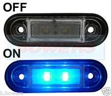 12V/24V FLUSH FIT BLUE LED MARKER LAMP / LIGHT TRUCK VAN LORRY CAR KELSA BAR RDX