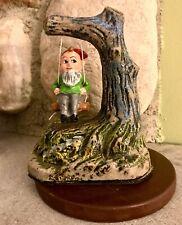 Vintage Bray Co Music Box Gnome Leprechaun on Swing ~ Danny Boy Wicklow Ireland