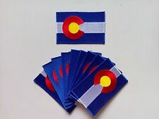 """10 Colorado USA State Flag Embroidered Patches 3.5""""x2.25"""" iron-on"""