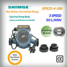 Shimge XPS25-4-180 Cast Iron Pump Body 3 Speeds Hot Water Circulation Pump
