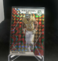 2020 Panini Mosaic Football Michael Thomas Pro Bowl Reactive Gold Prizm! Saints