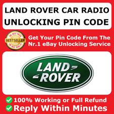 Radio estéreo de desbloqueo de código Land Rover Freelander Descubrimiento Defensor de decodificación de Pin