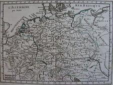 CARTE DE L'ALLEMAGNE, POLOGNE, HONGRIE, ORIGINALE XVIII ème