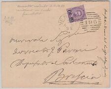ITALIA REGNO: storia postale - ANNULLO a SBARRE 196 usato 16 mesi dopo scadenza