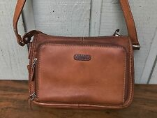 Fossil Genuine Leather Satchel, Women's Purse, Shoulder Handbag. Brown