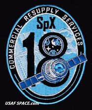 NEW SPX-18 - SPACEX CRS-18 NASA COMMERCIAL ISS RESUPPLY ORIGINAL AB Emblem PATCH