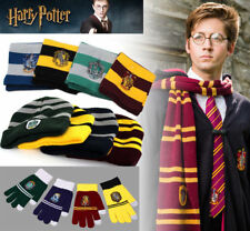 Harry Potter Cosplay Scarf Hat Tie Gryffindor Slytherin Hufflepuff Ravenclaw Set