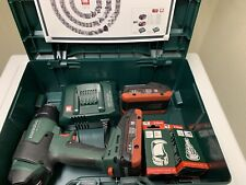 METABO HG 18 LTX 500 CORDLESS HOT AIR GUN, 2 BATTERIES, CHARGER, AND CASE