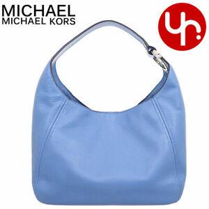 Michael Kors Fulton Large Hobo Shoulder Bag Blue Leather 35S0SFTH3L NEW $398 Ret