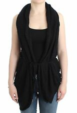 NWT C'N'c COSTUME NATIONAL Black Cardigan Sweater Knit Vest Knitted S/US6