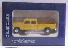 """TRIDENT #90078 Ford F-350 Crew Cab Pick-up Truck """"Yellow"""" H.O.Scale 1/87"""