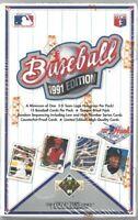 1991 Upper Deck Baseball Low High Box 36 Packs Get a PSA 10 Jordan or Aaron Auto